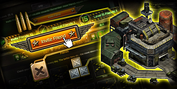 Total Domination - Improve Your Resource Production and Earn Rewards by Inviting Friends.