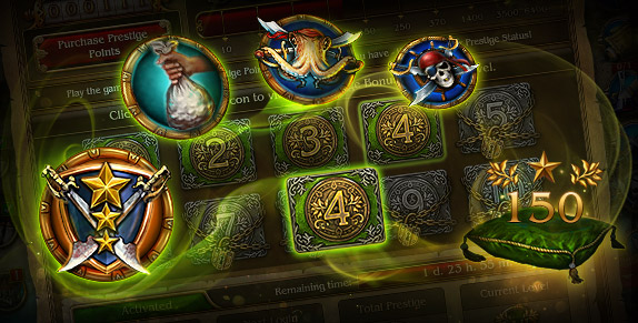 Pirates: Tides of Fortune - Receive Prestige Points in Various Game Events!