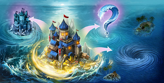 Pirates: Tides of Fortune - New Feature: Whirlpools o' Relocation!