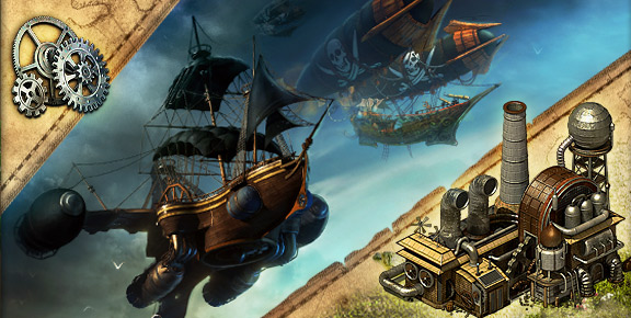 Pirates: Tides of Fortune - Build the Steamworks and Manufactory!